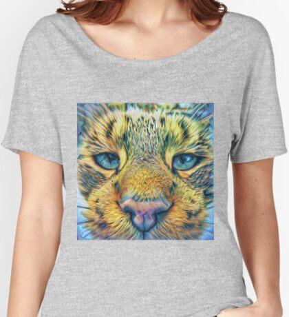 #DeepDreamed Cat v1449127170 Women's Relaxed Fit T-Shirt