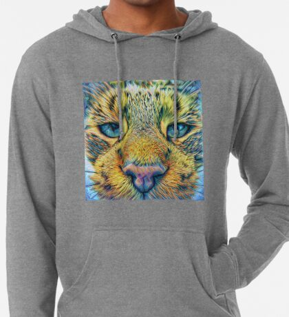 #DeepDreamed Cat v1449127170 Lightweight Hoodie