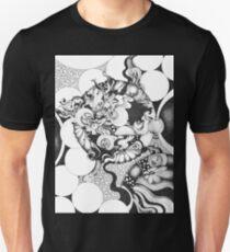 Moonlight Reflections, Ink Drawing T-Shirt