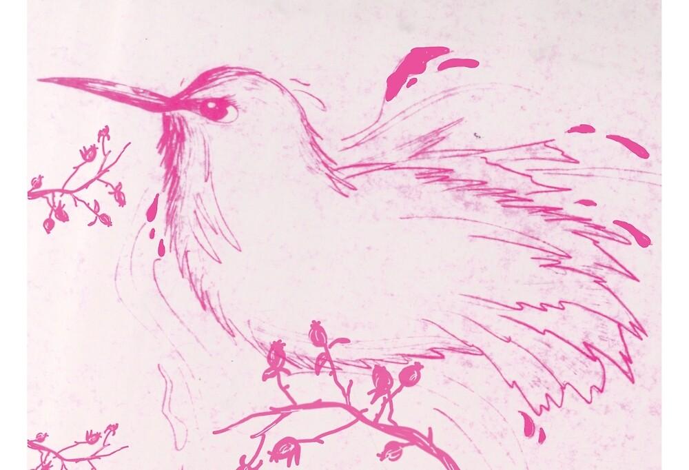 Pink Bird by Wybranska