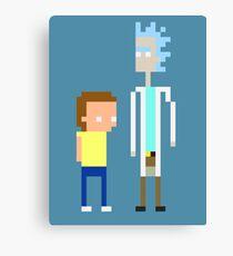 Rick and Morty Pixels  Canvas Print