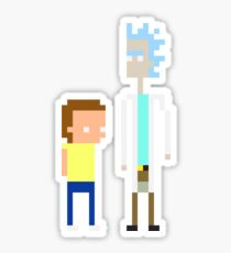 Rick and Morty Pixels  Sticker