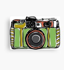 Vintage film camera big Canvas Print