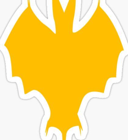 Orange-Yellow Silhouette Of a Bat  Sticker