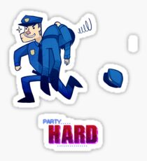 Party Hard - All the cops Sticker