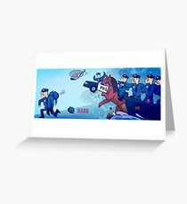 Party Hard - All the cops Greeting Card