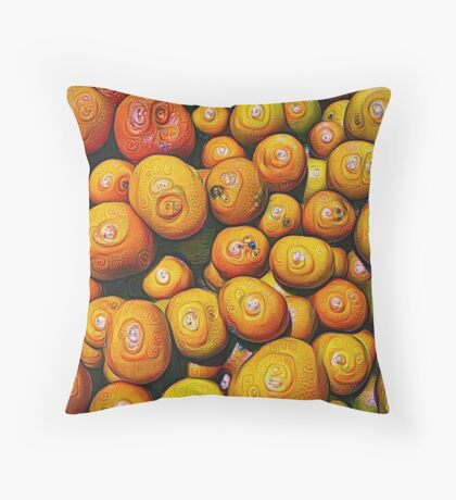 #DeepDream Fruits 5x5K v1454417933 Throw Pillow
