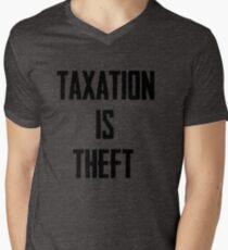 Taxation is Theft Men's V-Neck T-Shirt