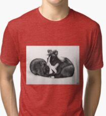 Sweet little Bunnies - Kaninchen Paar Tri-blend T-Shirt