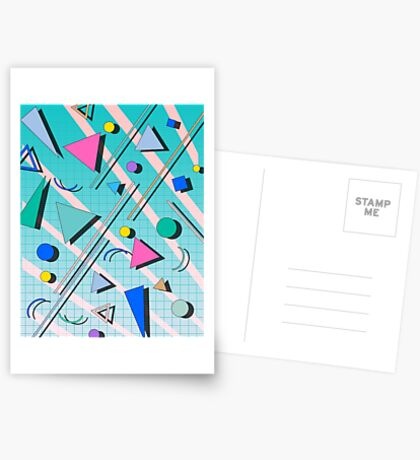 80s pop retro pattern 4 Greeting Card