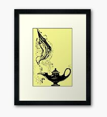 Genie lamp - pret à porter Framed Print