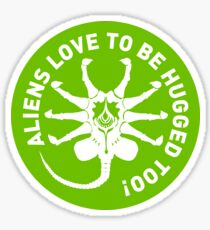 Aliens love to be hugged too! Sticker
