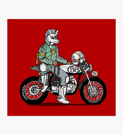 Wolf Rider Photographic Print