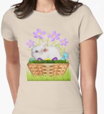 Bunny in a basket Women's Fitted T-Shirt