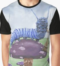 Who Are You? The Wonderland Caterpillar on Mushroom  Graphic T-Shirt