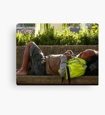 sleeping - dormiendo Canvas Print