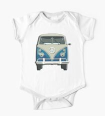 Volkswagen, Van, VW, Camper, Blue, Split screen, 1966 Volkswagen, Kombi (North America) One Piece - Short Sleeve