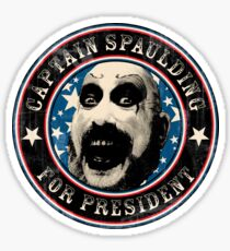 Captain Spaulding for President Sticker