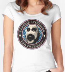Captain Spaulding for President Women's Fitted Scoop T-Shirt