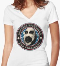 Captain Spaulding for President Women's Fitted V-Neck T-Shirt