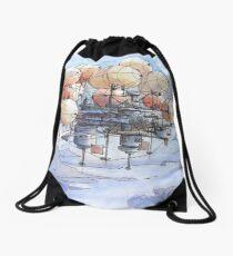 La citta' mongolfiera Drawstring Bag