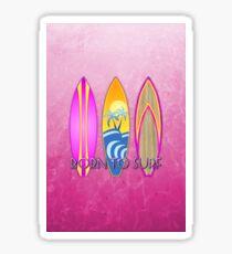 Pink Born To Surf  Sticker