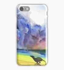 Greyhound Running on Stormy Beach iPhone Case/Skin