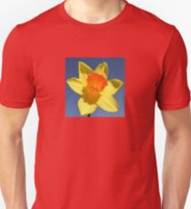 Yellow and Orange Colored Daffodil Close Up Unisex T-Shirt