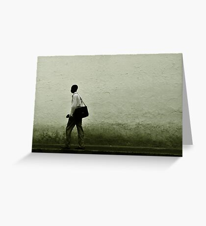 Pounding the Pavement Greeting Card
