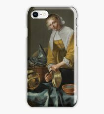 Willem van Odekercken A KITCHEN MAID STANDING BY A TABLE WITH COPPER POTS, PEWTER PLATES AND OTHER OBJECTS iPhone Case/Skin