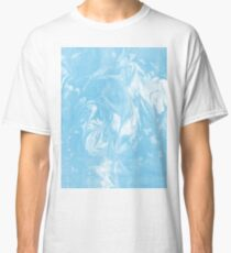 Maiko - spilled ink marbled paper art print abstract painting free spirit nature ocean waves water Classic T-Shirt