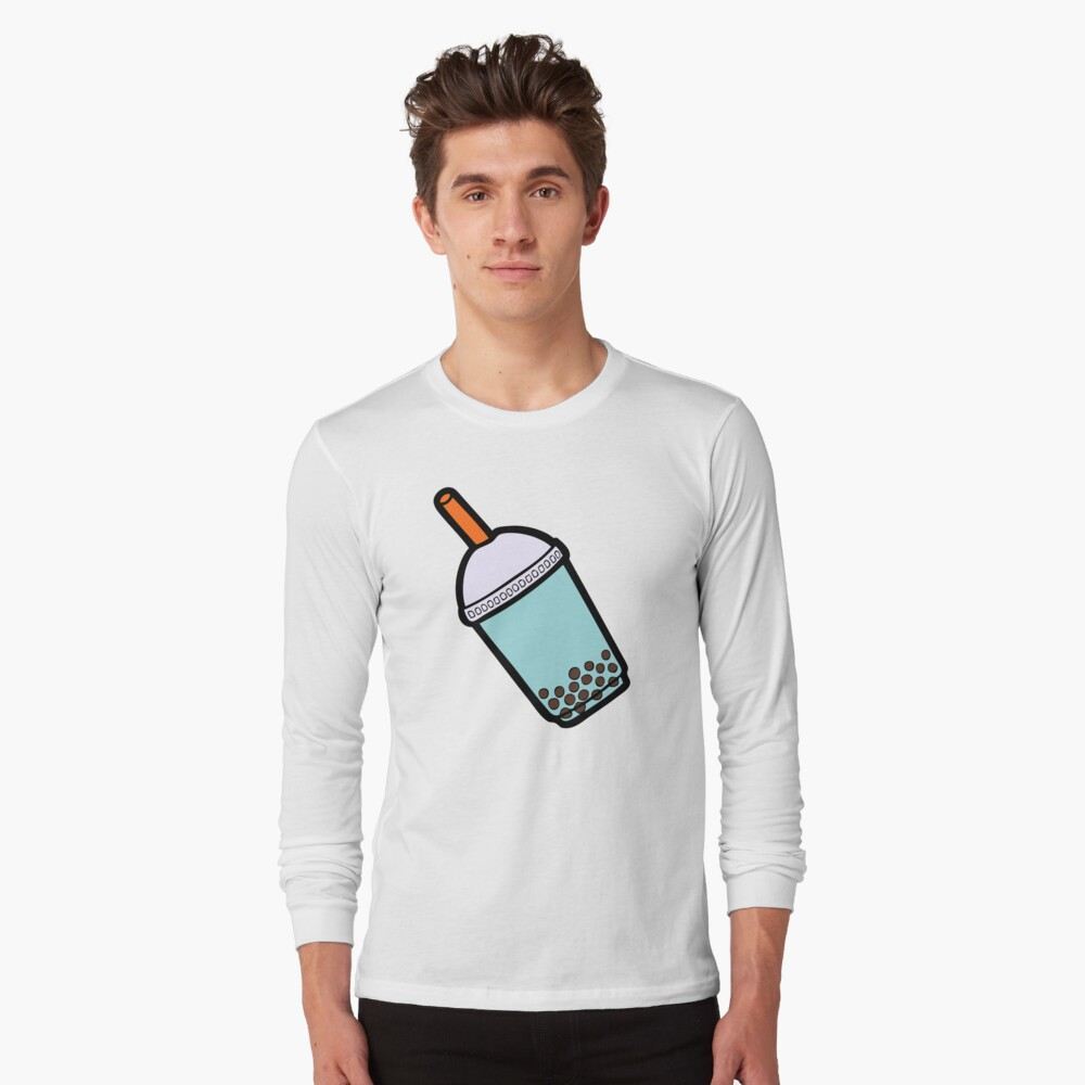 Bubble Tea Pattern Long Sleeve T-Shirt