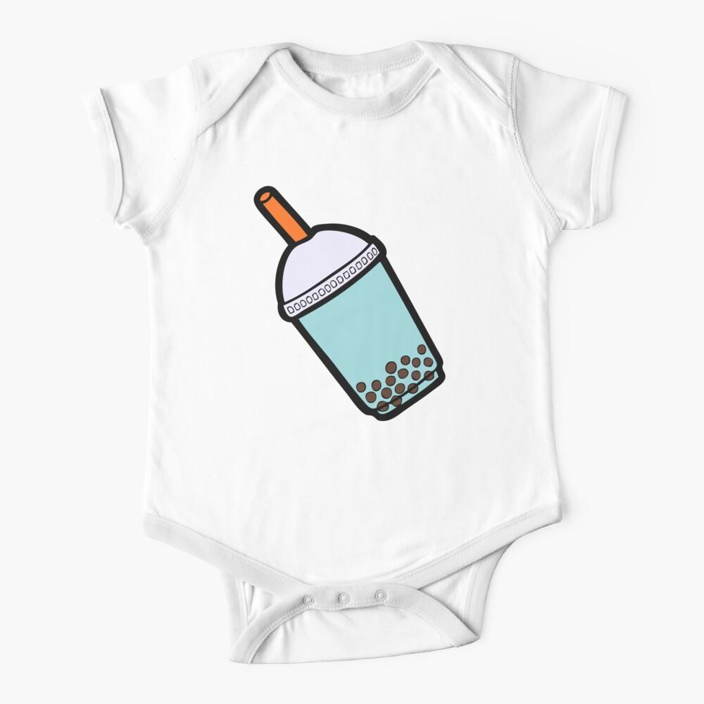 Bubble Tea Pattern Short Sleeve Baby One-Piece