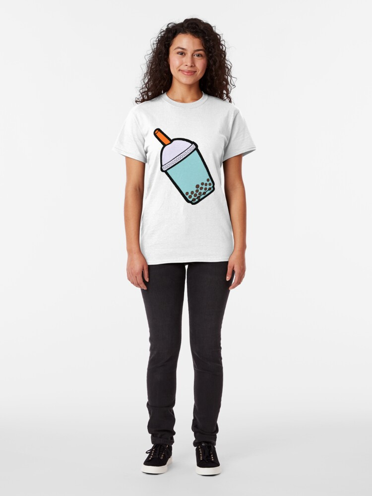 Alternate view of Bubble Tea Pattern Classic T-Shirt