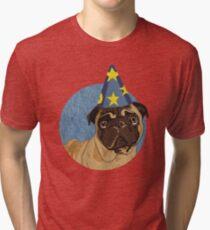 Magic Pug Sorceror Tri-blend T-Shirt