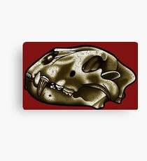 Lion Skull Canvas Print