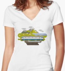 Railway Locomotive #40 Women's Fitted V-Neck T-Shirt
