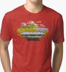 Railway Locomotive #40 Tri-blend T-Shirt