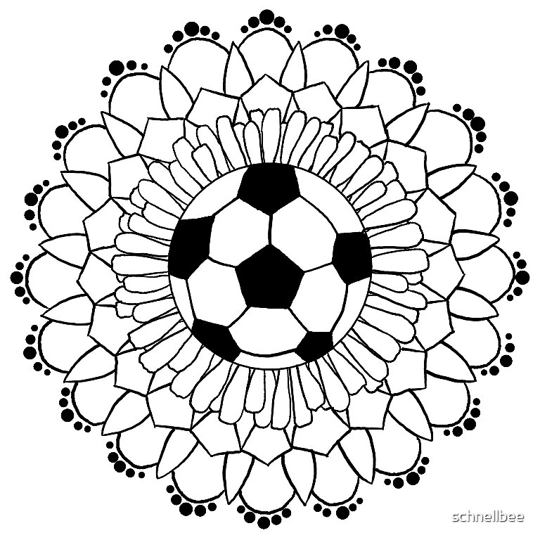 """""""fußballmandala"""" sticker von schnellbee  redbubble"""