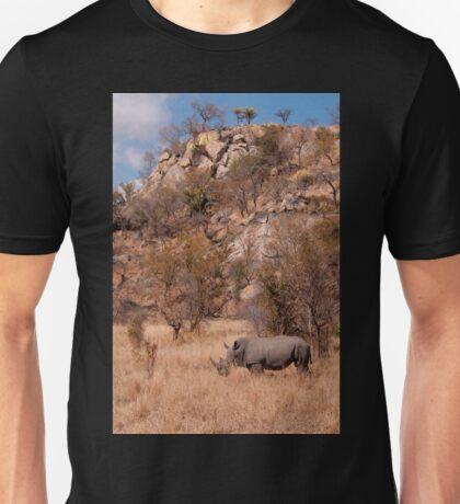 White Rhinoceros below a koppie, Kruger National Park T-Shirt