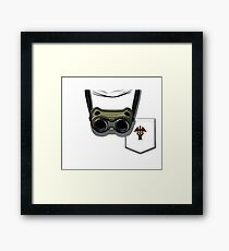 PhD in Horribleness Framed Print