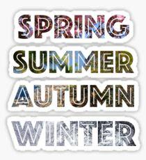 Spring, Summer, Autumn, and Winter Sticker