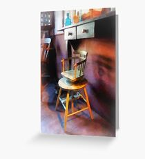 Vintage Child's Barber Chair Greeting Card