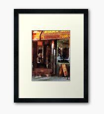 West Village Barber Shop Framed Print