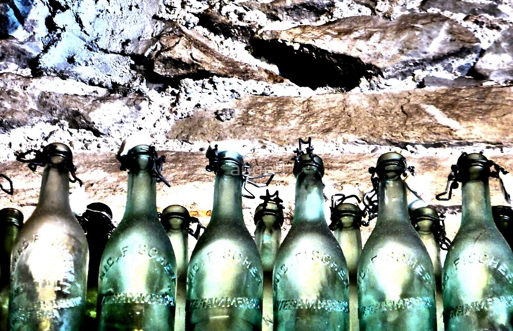 Old Glass Bottles by ©The Creative  Minds