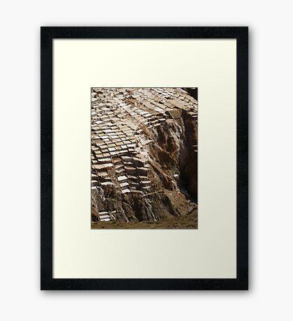 Las Salinas de Mara, Peru Framed Print