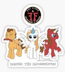 My Little Fringe Pony Sticker