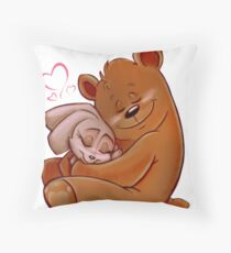 Honey Bunny Bear Throw Pillow