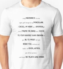 Marianas Trench Dearly Departed Lyrics Unisex T-Shirt