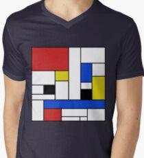 Mondrian Lines Men's V-Neck T-Shirt
